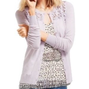 CAbi Lace Yolk Cardigan Sweater #184
